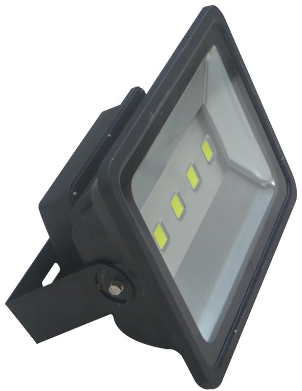 led floodlight 200w 6500k black c w photocell. Black Bedroom Furniture Sets. Home Design Ideas