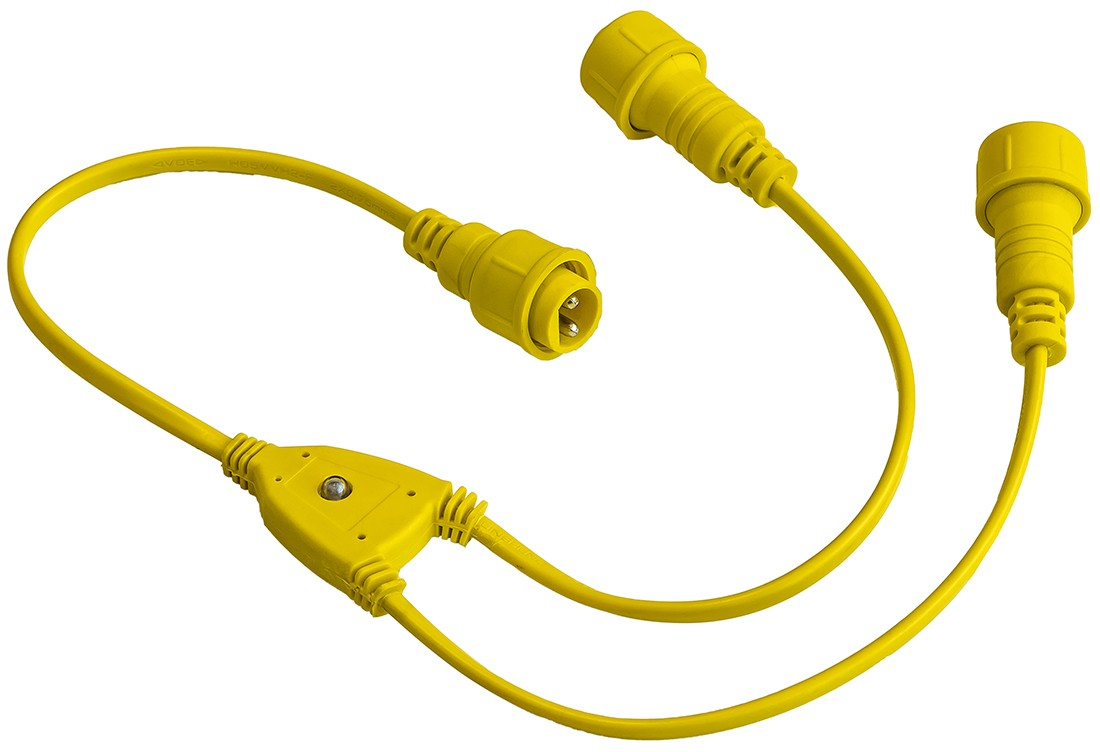 30cm Splitter cable for Festoon, 1 male - 2 female connector