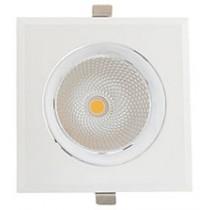 COB Downlight LED Square Rim Adjustable 30W 4000K White