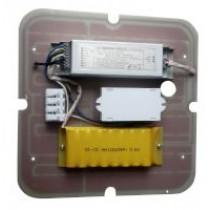15W Square LED Gear Tray Emergency w/Microwave Sensor 3500K