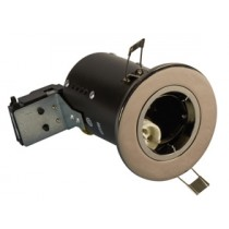 Fire Rated Downlight GU10 Fixed - Black Chrome - Diecast