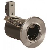 Fire Rated Downlight GU10 Fixed - Satin Chrome - Diecast