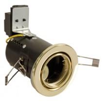 Fire Rated Downlight  GU10 Tilt - Brass