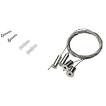Stainless steel rope suspension kit 2 pcs 2.0m incl fixings