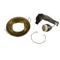 GU10 Downlight - Tilt - Brass