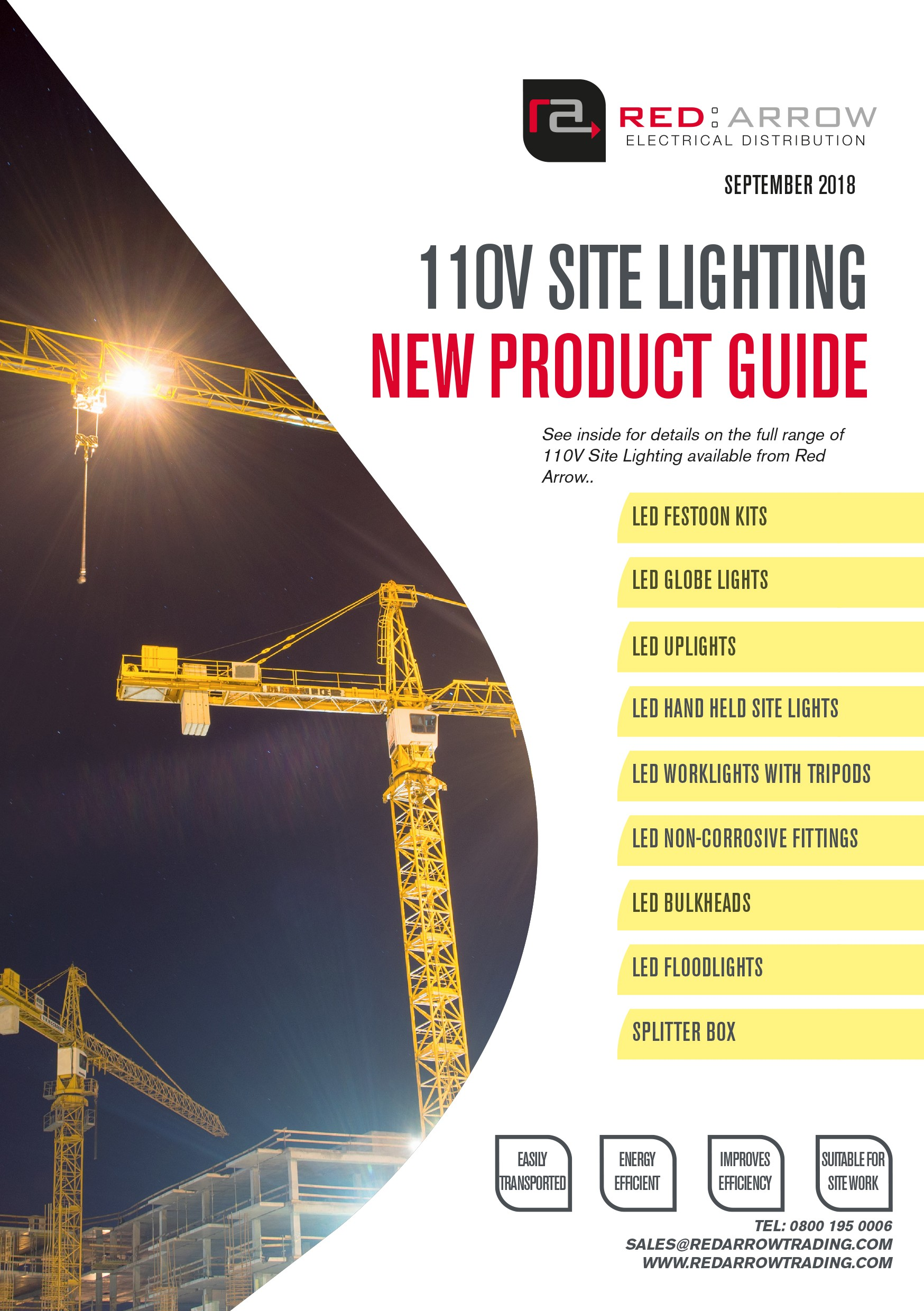 RED ARROW LAUNCHES THE NEW 110V SITE LIGHTING CATALOGUE!