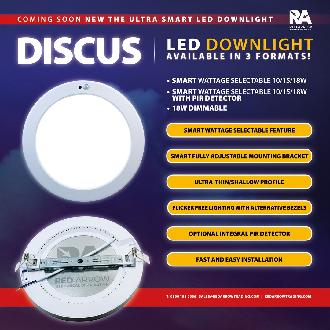 Discus is the new 'smart' surface mount downlight coming soon from Red Arrow.