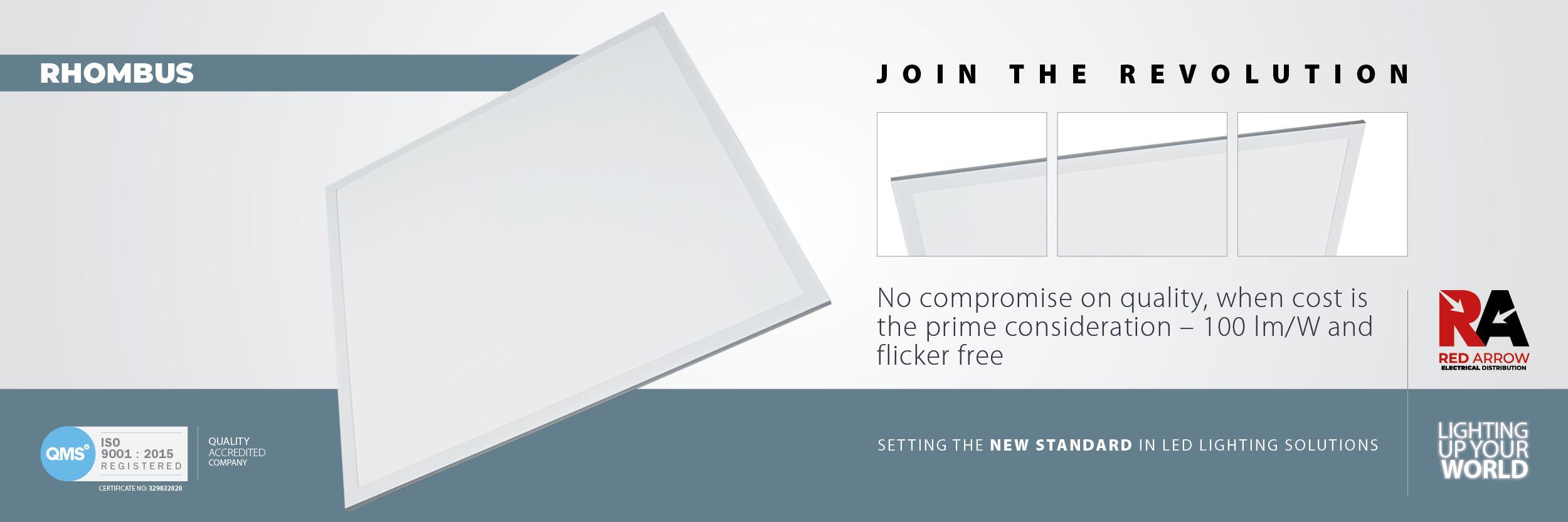 Rhombus Panel Web Banner