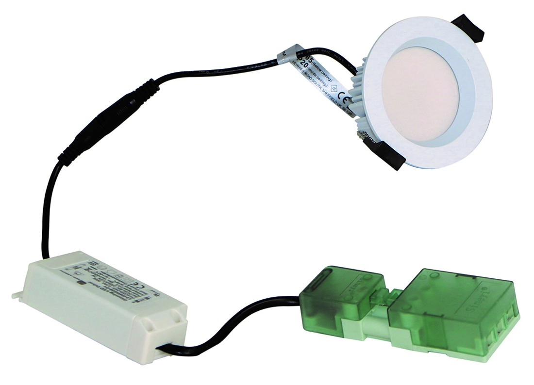 F Rated 8w Downlight Recessed Diffuser Ip65 White Dimm 5000k