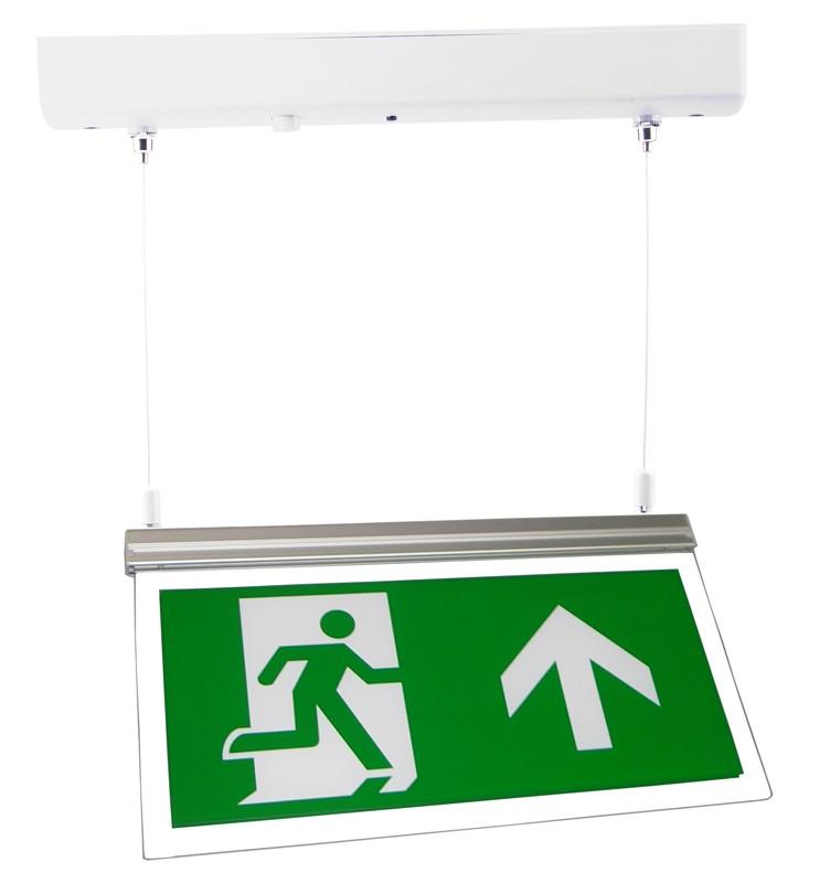 LED Exit Sign Light Surface Mount c/w Arrow Up Legend