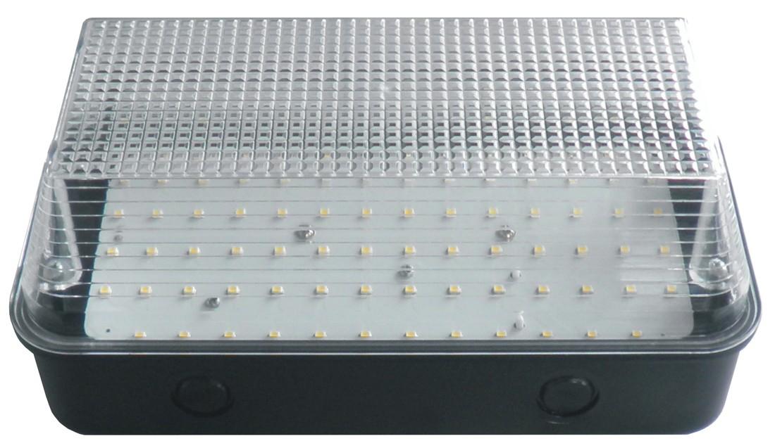 Bulkhead 8W LED Black Base Clear Diffuser - 6000K