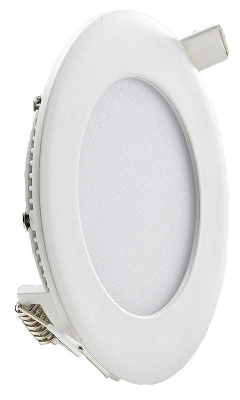 Circular LED Panel 6w 120mm dia White Trim - 6000K
