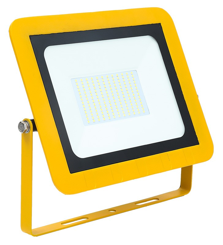 Site Floodlight AC 110V 100W 6500K LED IP65 Yellow