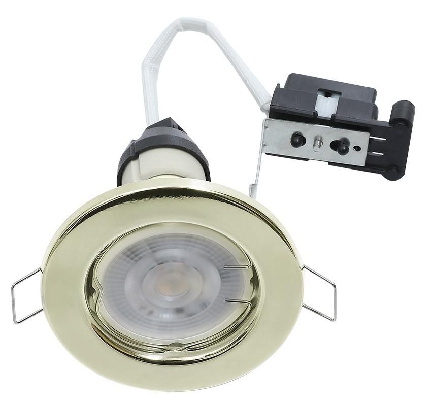Hoop Downlight Steel GU10 Fixed Brass