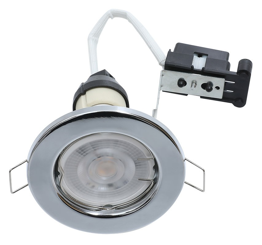 Hoop Downlight Steel GU10 Fixed Chrome