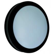 Diecast LED Bulkhead 18w Round Black/Opal Emergency 4000K