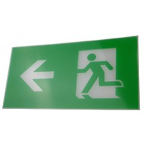 Exit Legend For Exit Box - arrow points left.