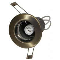 Fire Rated Downlight GU10 Fixed - Antique Brass