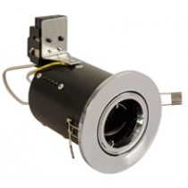 Fire Rated Downlight GU10 Fixed - Chrome - Diecast
