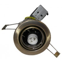 Fire Rated Downlight GU10 Tilt - Antique Brass