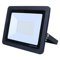 100W SMD AC Floodlight Photocell - 6000K - Black
