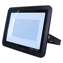 200W SMD AC Floodlight Photocell - 6000K - Black