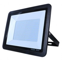 300W SMD AC Floodlight Photocell - 6000K - Black