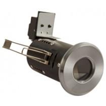 Fire Rated Diecast Showerlight  GU10 - Satin Chrome