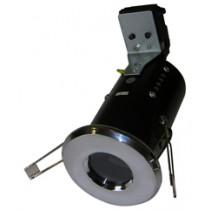 Fire Rated Diecast Showerlight GU10 - Chrome