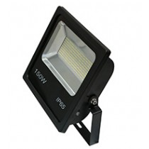 150w SMD LED Floodlight - Black 6500k w/Photocell