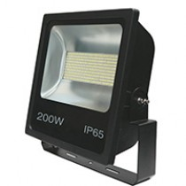 200W SMD LED Floodlight 6500K Black