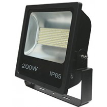 200w SMD LED Floodlight - Black 6500k w/Photocell