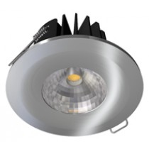 Satin Chrome Bezel For Fire-Rated 8W COB LED Downlight