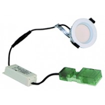 F/Rated 8W Downlight Recessed Diffuser IP65 White Dimm 3000K