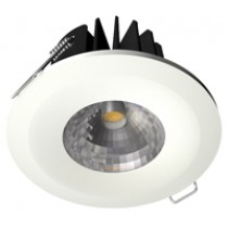 Fire-Rated 8W COB LED Downlight Dimmable 5000K - White Bezel