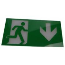 Exit Legend for HTLEDSM-1/HTLEDCWM - Arrow Down