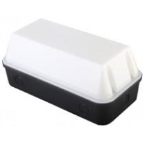 Bulkhead 8W LED Black Base Opal Diffuser - 6000K