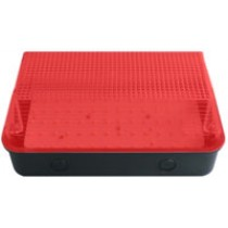 Bulkhead 8W LED Black Base Red Diffuser - 6000K