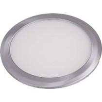 PL Down Light Trim - frosted glass - s/chrome trim