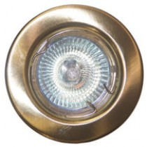 GU10 Downlight - Fixed - Brass
