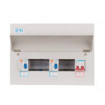 14 Way 100A Isolator 2 x 80A RCD Metal Clad Consumer Unit
