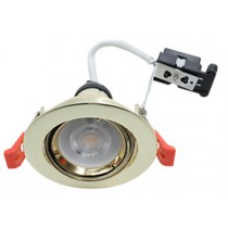 Hoop Plus Downlight Die Cast GU10 Tilt Brass