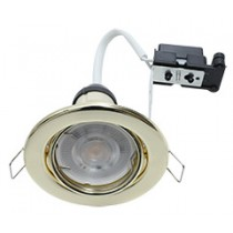 Hoop Downlight Steel GU10 Tilt Brass