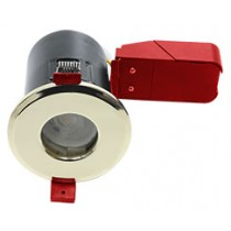 Ignis Plus Fire Rated Downlight GU10 IP65 Brass