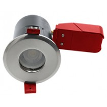 Ignis Plus Fire Rated Downlight GU10 IP65 Satin Chrome