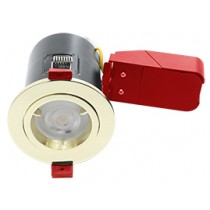 Ignis Plus Fire Rated Downlight GU10 Fixed Brass