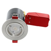 Ignis Plus Fire Rated Downlight GU10 Fixed Satin Chrome