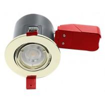 Ignis Plus Fire Rated Downlight GU10 Tilt Brass
