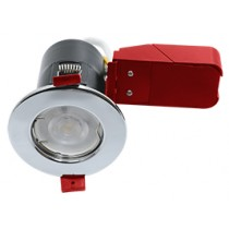 Ignis Fire Rated Downlight Steel GU10 Fixed Chrome