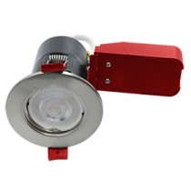 Ignis Fire Rated Downlight Steel GU10 Fixed Satin Chrome